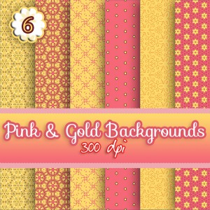 6-pink-n-gold-backgrounds