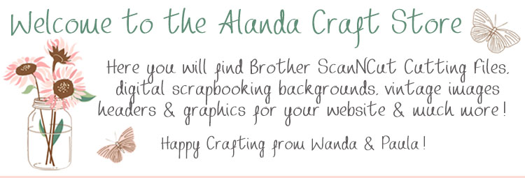 brother scanncut cutting files, digital scrapbooking, vintage images