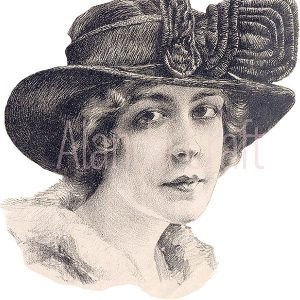 Vintage Lady With Hat #4
