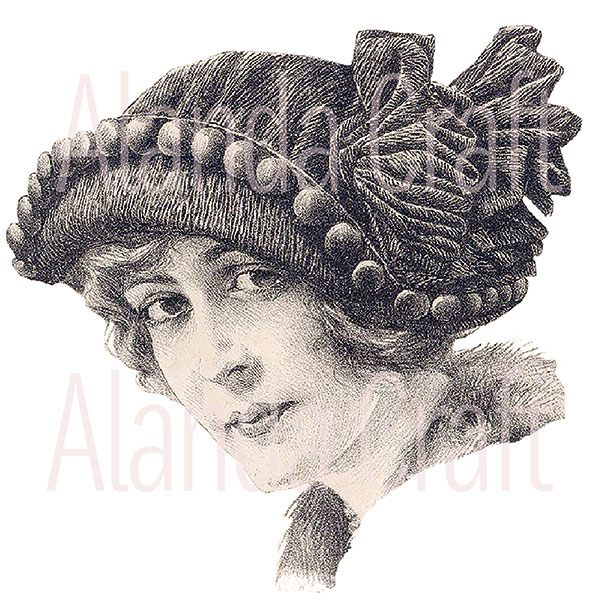 Vintage Lady With Hat #5