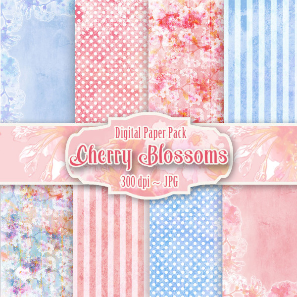 Cherry Blossom Printable Backgrounds