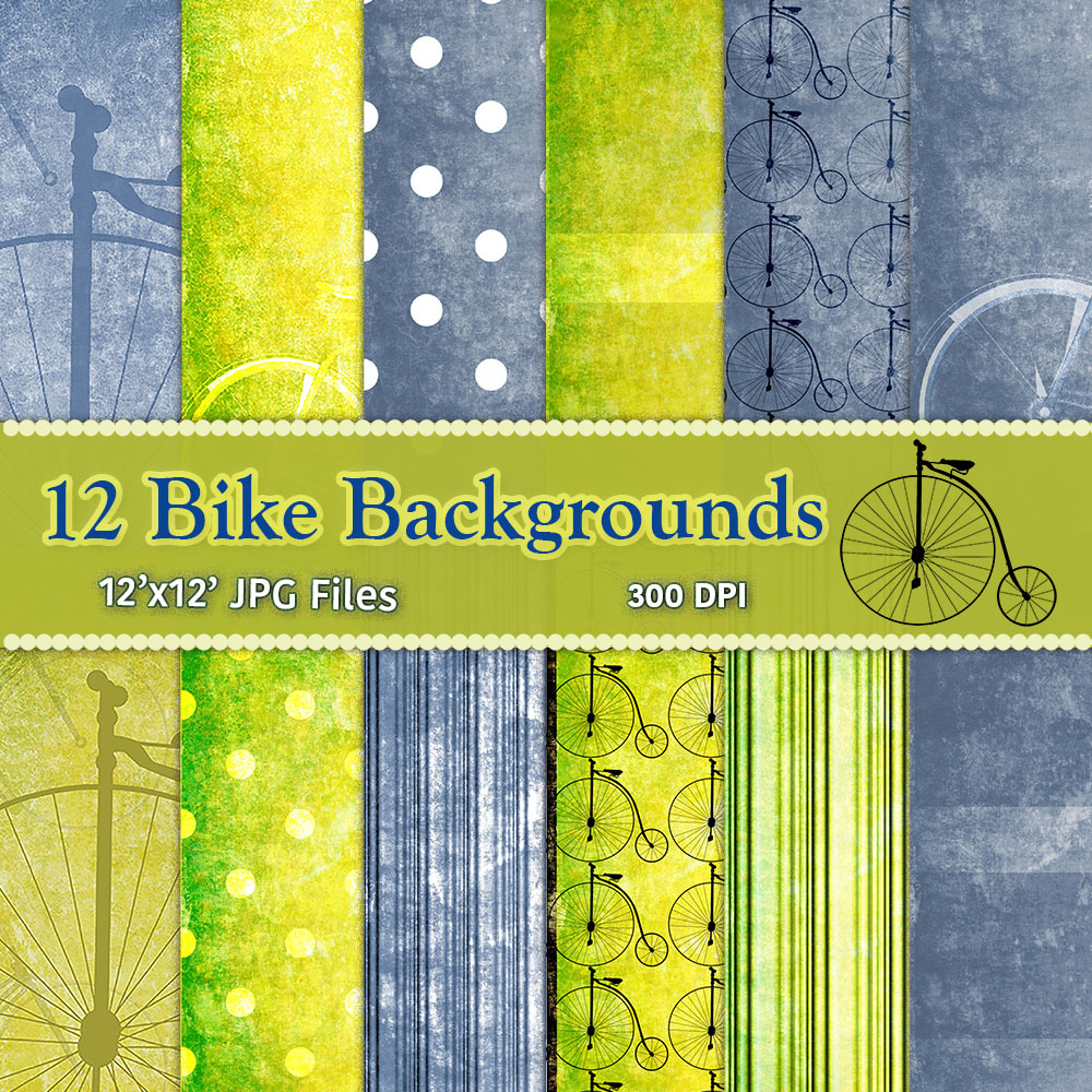Vintage Bike Digital Backgrounds