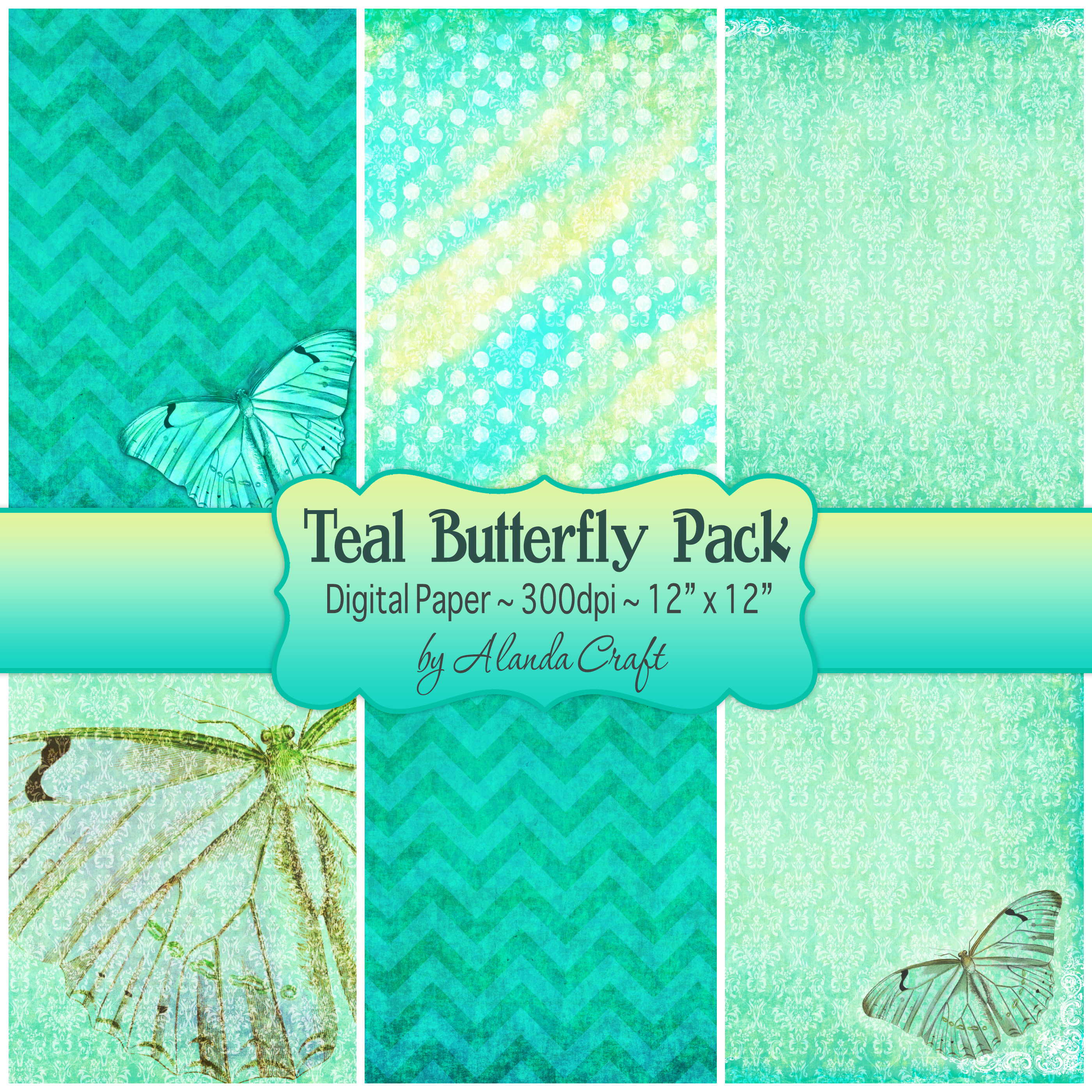 Teal Butterfly Backgrounds