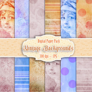 Vintage Lady Backgrounds