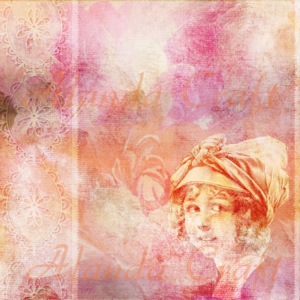 Vintage Lady Digital Background