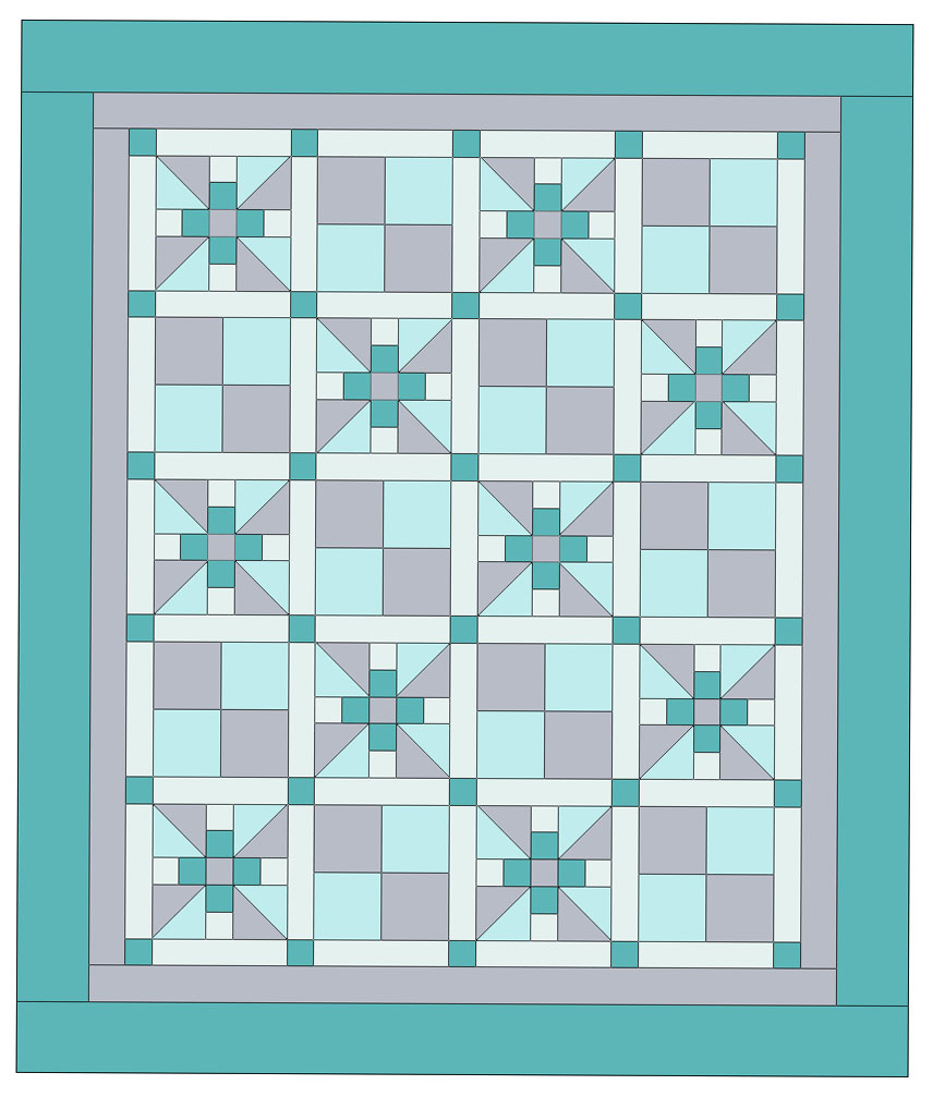 Snuggle Blossom Baby Quilt Pattern