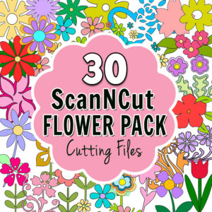 ScanNCut Flower Pack Cutting Files