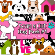 scan n cut, cutting files, dogs, scanncut, brother, fcm files